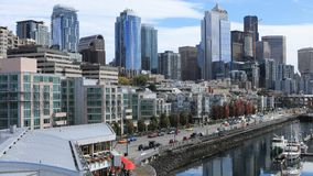 Timelapse litorale 4K di Seattle, Washington video d archivio
