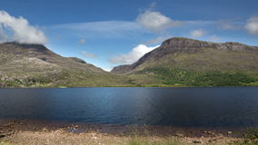Timelapse of loch maree in scotland stock footage