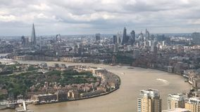 Timelapse Of London Skyline. On Cloudy Day stock video