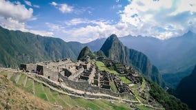 Timelapse of the Lost Incan City of Machu Picchu near Cusco, Peru. stock footage