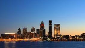 Timelapse Louisville jako noc spada 4K zdjęcie wideo