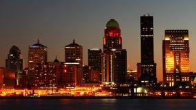 Timelapse Louisville, Kentucky od dnia noc 4K zbiory