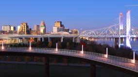 Timelapse Louisville, Kentucky przy brzaskiem 4K zdjęcie wideo