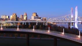 Timelapse Louisville, Kentucky przy zmrokiem 4K zbiory