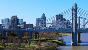 Timelapse Louisville, Kentucky z JFK mostem 4K zdjęcie wideo