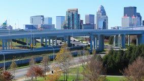Timelapse Louisville, Kentucky z ranku ruchem drogowym 4K zbiory wideo