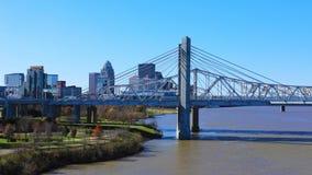 Timelapse Louisville z JFK mostem 4K zdjęcie wideo