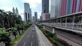 Timelapse mainroad ` s ruch drogowy w dużym mieście zbiory