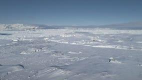 Timelapse majestuoso aéreo del paisaje de la Antártida metrajes