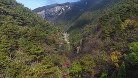 Timelapse materiał filmowy Porcelanowy góry Lu Jingxiu Dolinny naturalny krajobraz w opóźnionej jesieni zdjęcie wideo