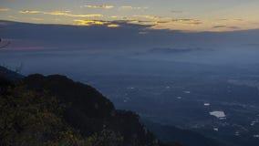 Timelapse materiał filmowy Porcelanowy góry Lu sunet krajobraz w opóźnionej jesieni zbiory wideo