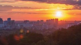 Timelapse materiał filmowy ranku wschód słońca zbiory wideo