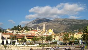 Timelapse of Menton in France stock video footage