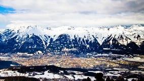 Timelapse miasta Innsbruck Tirol Austria Alps góry Karwendel zdjęcie wideo