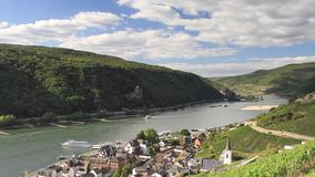 Timelapse - Middle Rhine valley near Assmannshausen stock footage