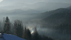 Timelapse of the Mist and Cloud in Forest Mountains stock video footage