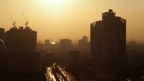 Timelapse of morning coming to Bangkok city, Thailand