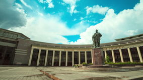 Timelapse motion around kazan university square along facade stock video