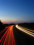 Timelapse of motorway 3. Long exposure of Motorway Stock Images