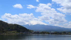 Timelapse Mount Fuji, view from Lake Kawaguchiko, Japan. 4K Timelapse Mount Fuji, view from Lake Kawaguchiko, Japan stock video footage
