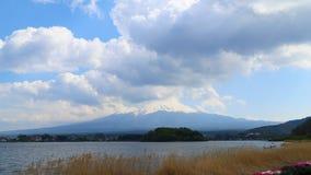Timelapse Mount Fuji, view from Lake Kawaguchiko, Japan. 4K Timelapse Mount Fuji, view from Lake Kawaguchiko, Japan stock video