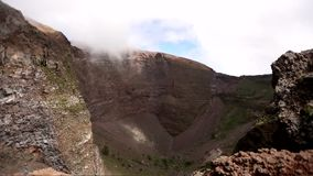 Timelapse Mount Vesuvius видеоматериал