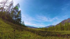 Timelapse of mountain with beautiful cloudy sky in the Altai Mountains, Siberia, Russia stock video footage