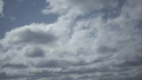 Timelapse movement of clouds in the blue sky. stock video