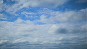 Timelapse movement of clouds in the blue sky. Timelapse movement of clouds in the blue sky stock video