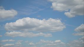 Timelapse movement of clouds in the blue sky. Timelapse movement of clouds in the blue sky stock video footage