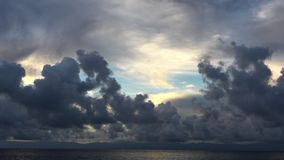 Timelapse movement of gray clouds against the sky. Andreev. stock footage