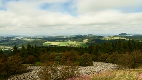 Timelapse - Moving clouds from the peak of the Wasserkuppe stock footage