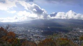 Timelapse Mt Fuji z spadków kolorami w Japonia dla adv lub inny purpose use zdjęcie wideo