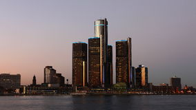 timelapse Nacht 4K UltraHD der Detroit-Skyline