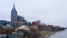 Timelapse Nashville, Tennessee centrum miasta 4K i rzeka, zbiory wideo
