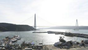 Timelapse on new bodpshorus bridge of Istanbul stock footage