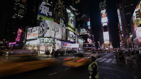 Timelapse New York Times Square stock video footage