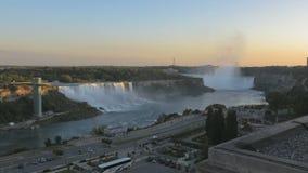 Timelapse Niagara Falls sunset stock video footage