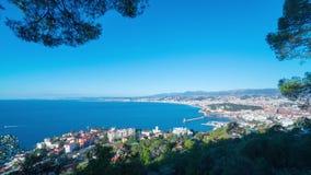Timelapse Nice de panorama ensoleillé de ville france La Côte d'Azur clips vidéos