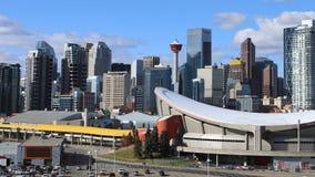 Timelapse niecka Calgary centrum miasta 4K zdjęcie wideo