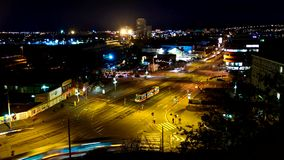 Timelapse night city junction stock footage