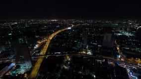 Timelapse of night life in Bangkok city, Thailand stock video