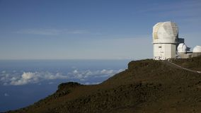 Timelapse of the observatory on top of Maui stock footage