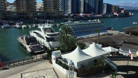 Timelapse of Ocean Village Marina in Gibraltar stock video
