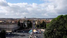 Timelapse od Wysokiego widoku Rome centrum miasta w godzina szczytu, Italy zdjęcie wideo