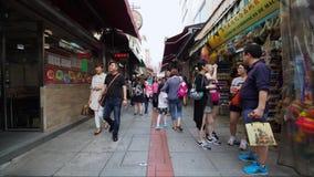 Timelapse in Old Taipa, Macau stock video footage