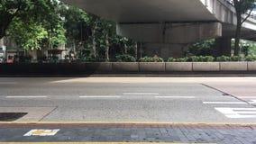 Timelapse op bezige straat in Hong Kong stock video