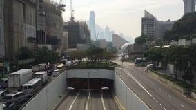 Timelapse op bezige straat in Hong Kong stock videobeelden