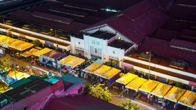 Timelapse the operation in BenThanh night market in District 1, Ho Chi Minh City stock footage