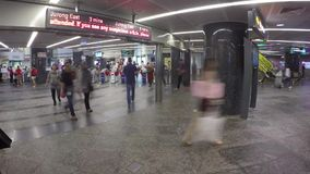 Timelapse Orchard MRT Station stock video
